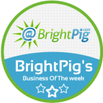 Bright Pigs Business Of The Week Badge