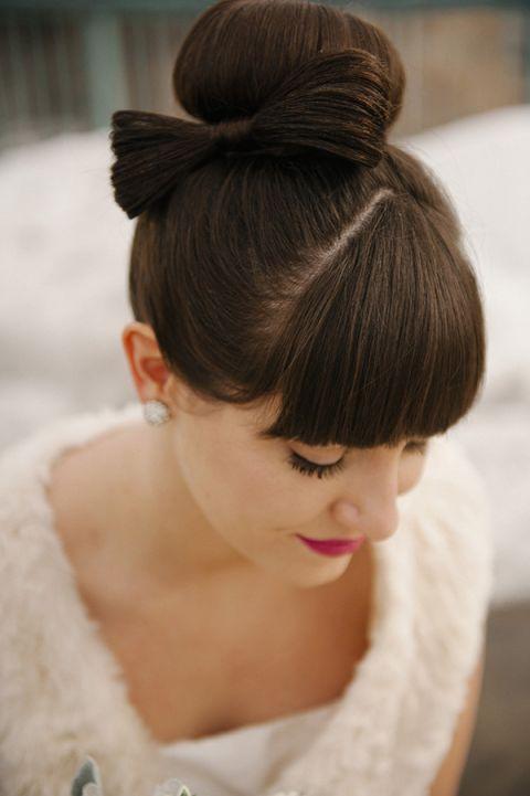Bow bride wedding hair style