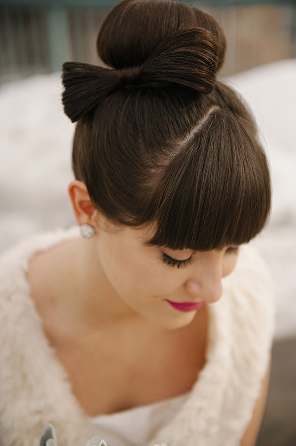 Bow bride wedding hair style