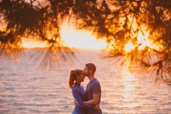 andy-leanne- sunset engagement shoot at Sandbanks