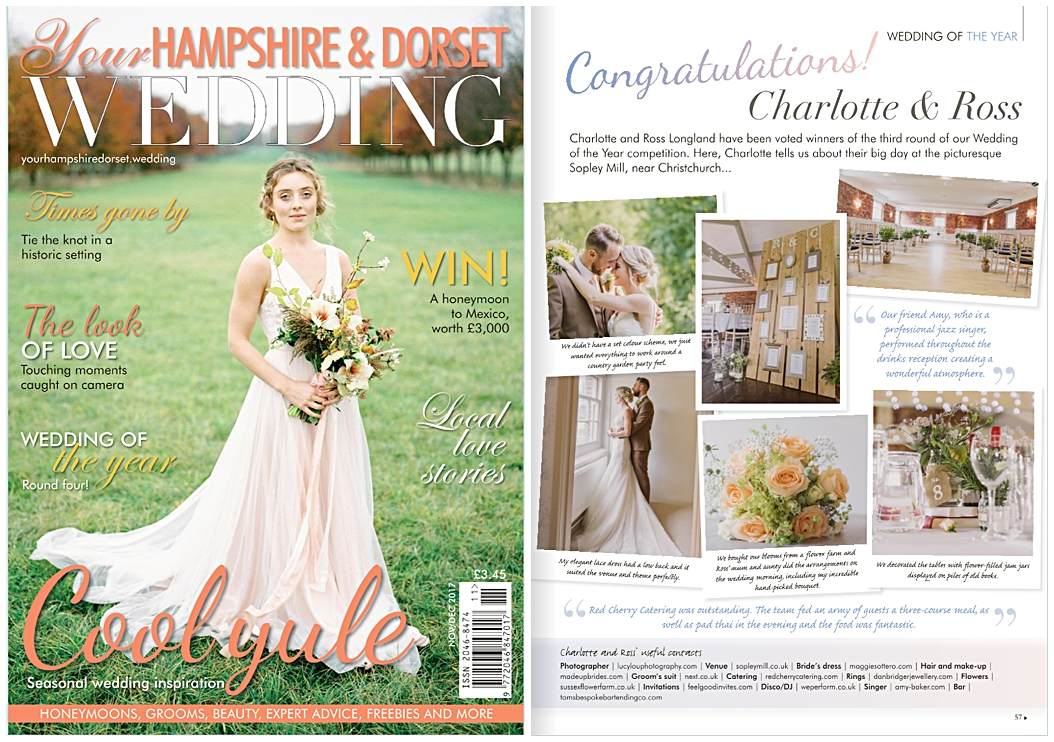 Your Hampshire and Dorset Wedding magazine feature