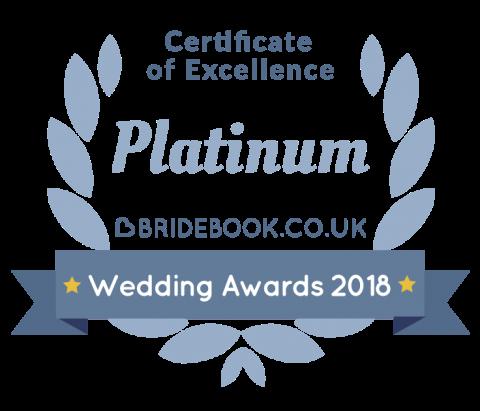 Bridebook Wedding Awards 2018 Certificate of Excellence