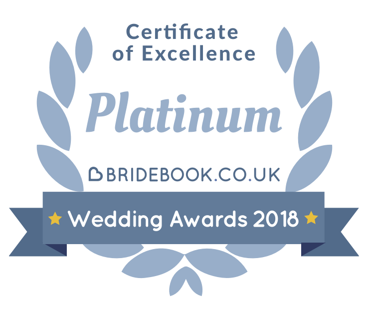 Bridebook Wedding Awards 2018 Certificate of Excellence