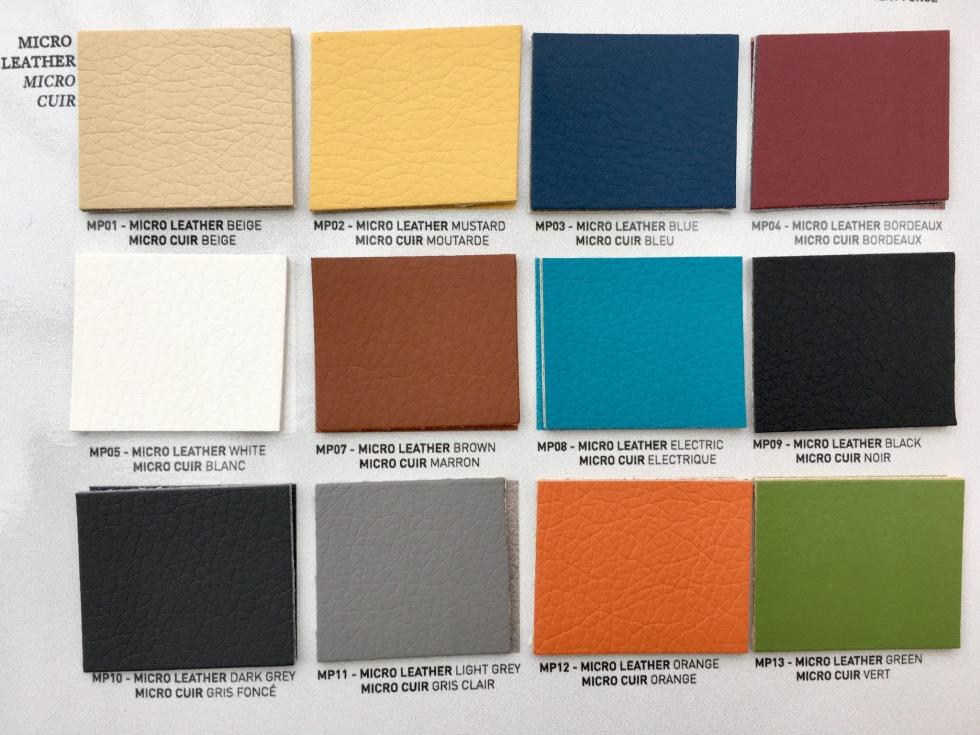 Micro leather album colour options