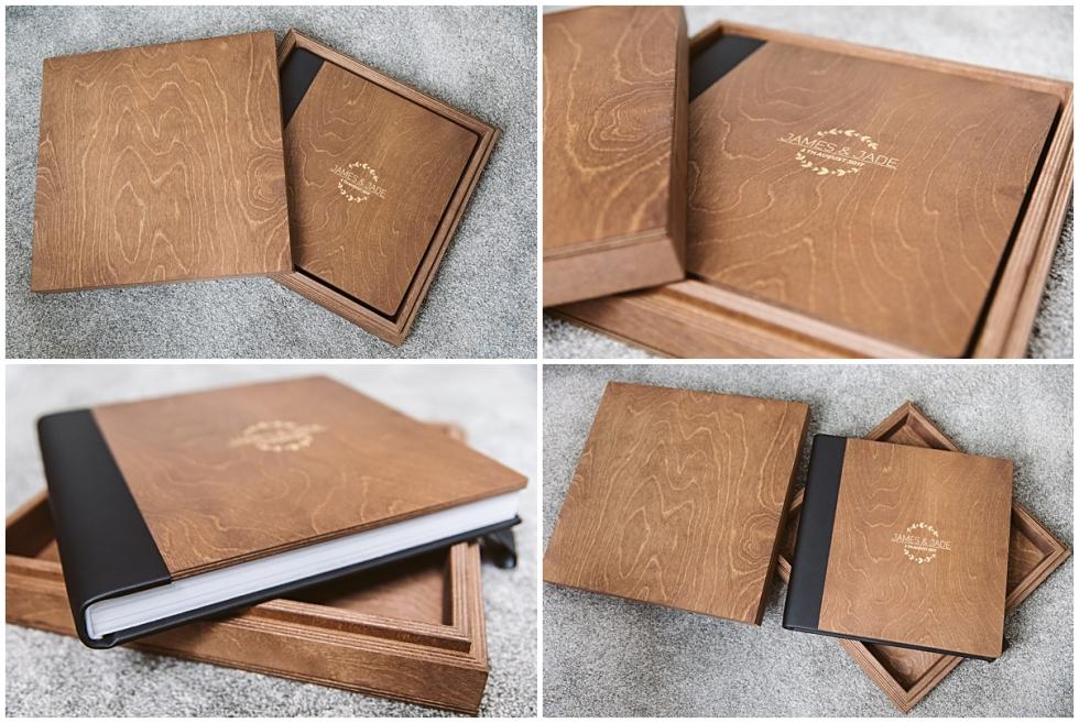 wooden album