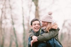 wintery engagement shoot in the snow
