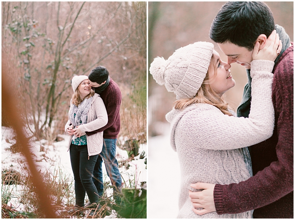 Wintery snow engagement shoot