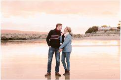 Autumn engagement shoot at Sandbanks