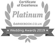 Bridebook Platinum certificate of excellence badge